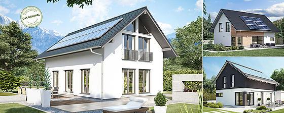 Klassisches Satteldach (rechteckig/quadratisch, praktisch, gut – am günstigsten)