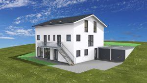 Generationen-Haus oder 3 Familien-Haus 2 Doppelhaushälften in EG und DG und einer Einliegerwohnung im Untergeschoß Rottenburg