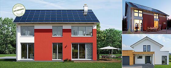 Modernes Satteldach mit Zeitgemäßer Architektur