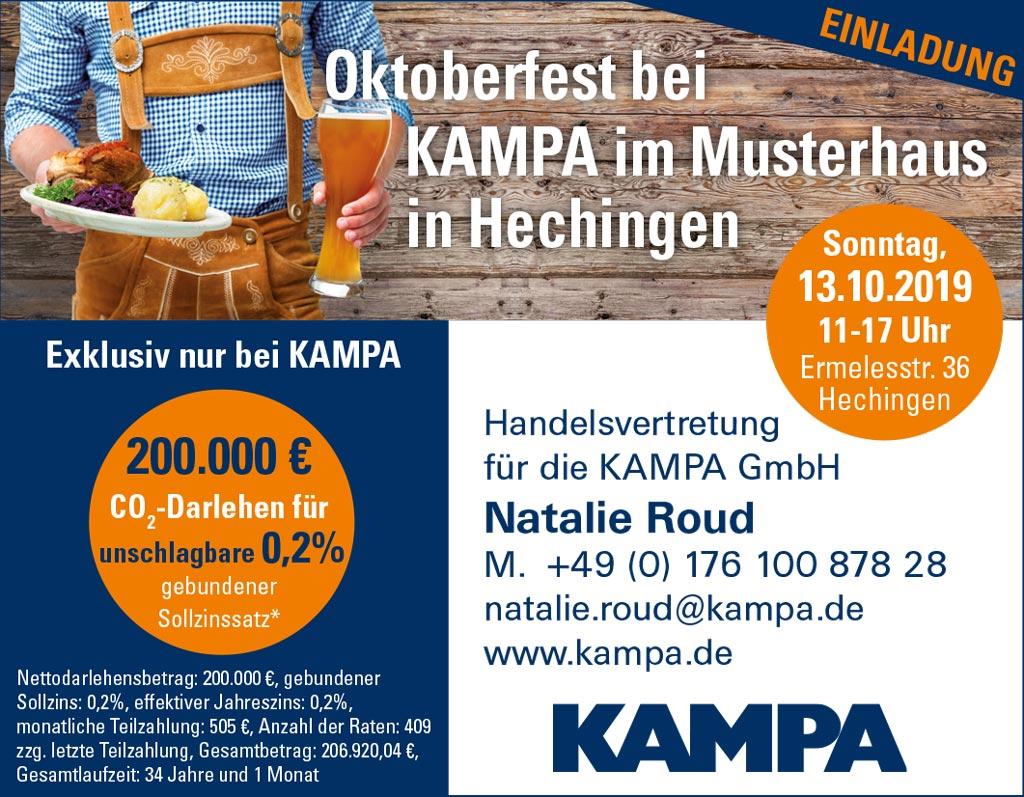 Oktoberfest bei KAMPA im Musterhaus in Hechingen